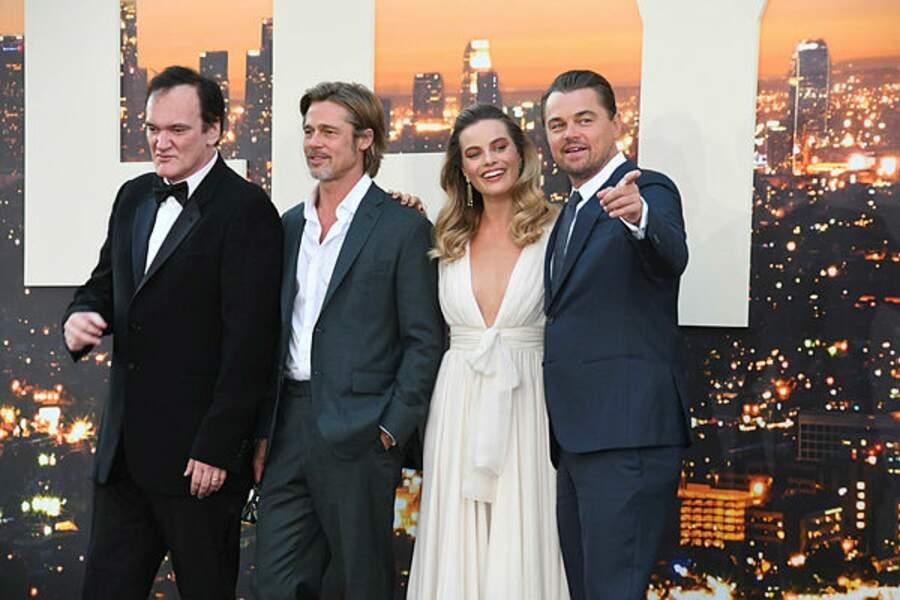 Les acteurs principaux réunis avec leur réalisateur Quentin Tarantino