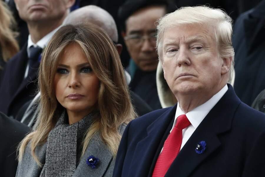 Un peu moins entre Melania et Donald Trump