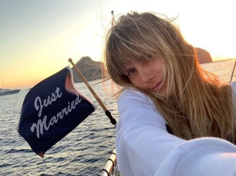La jeune mariée Heidi Klum a pris la mer.