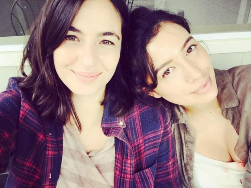 Alanna Masterson et Christian Serratos, les atouts charme de la série.