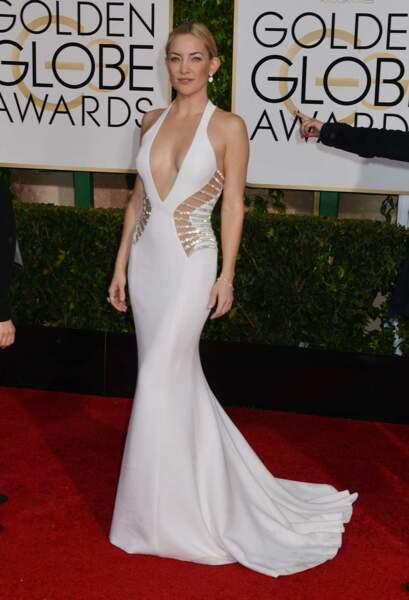 Kate Hudson, fraîchement séparée de Matthew Bellamy, dans une jolie robe blanche