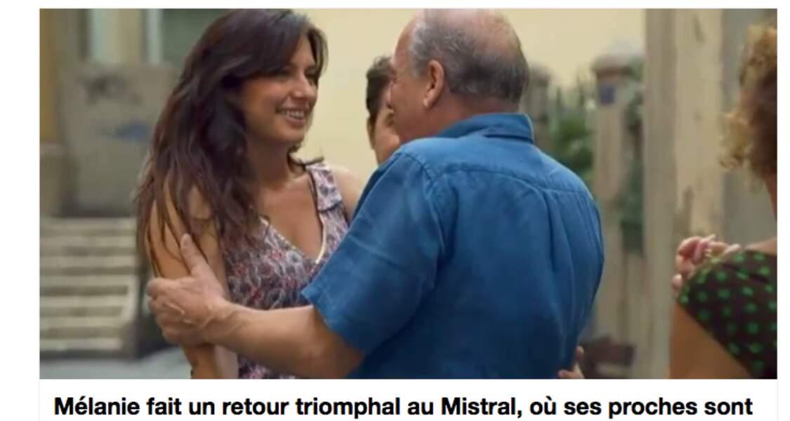 Août : Stéphane, qui a eu des visions de Mélanie, part la chercher et elle rentre à Marseille