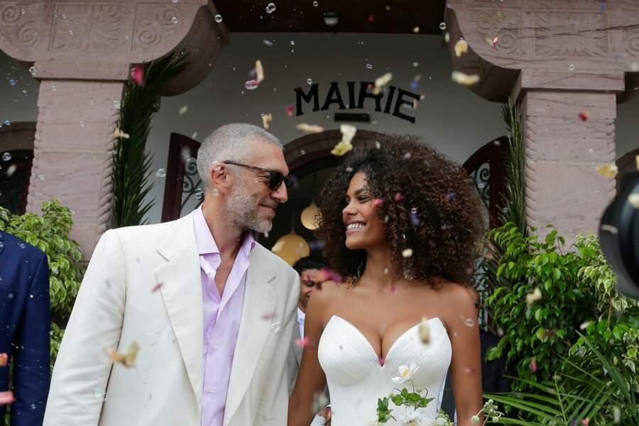 Vincent Cassel et Tina Kunakey se sont dit oui !
