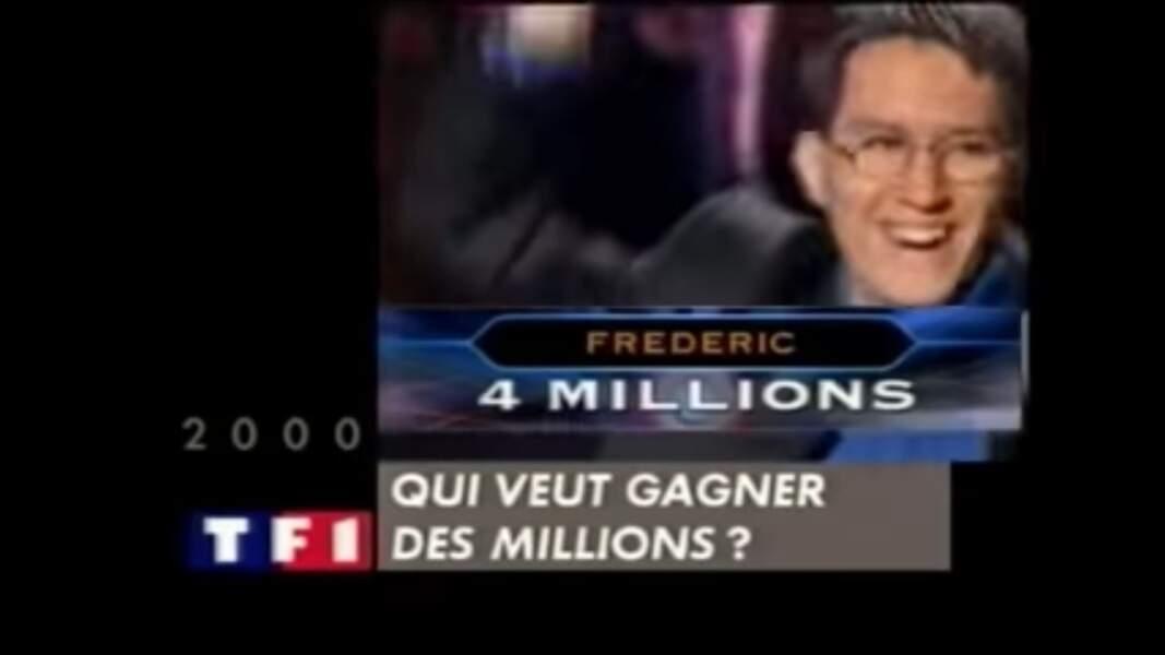 8. Frédéric, 609 796 €, Qui veut gagner des millions ?, TF1 (2000)