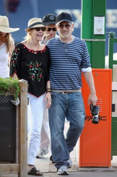 Kate Capshaw et Steven Spielberg, qui ne peut décidément pas lâcher ses caméras.