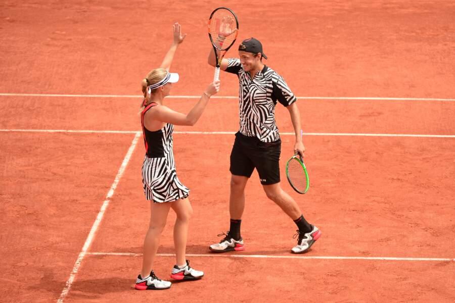 Kristina Mladenovic et Lucas Pouille font la paire