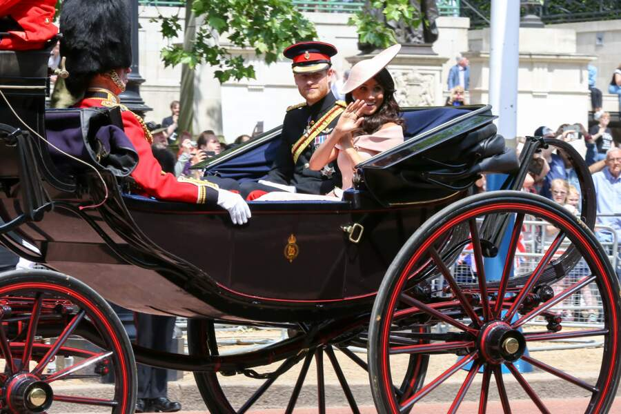 Le prince Harry et Meghan Markle à leur arrivée