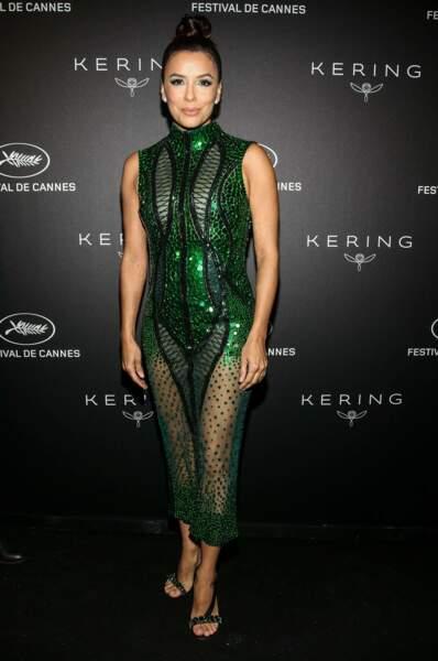 Eva Longoria et sa robe écailles...