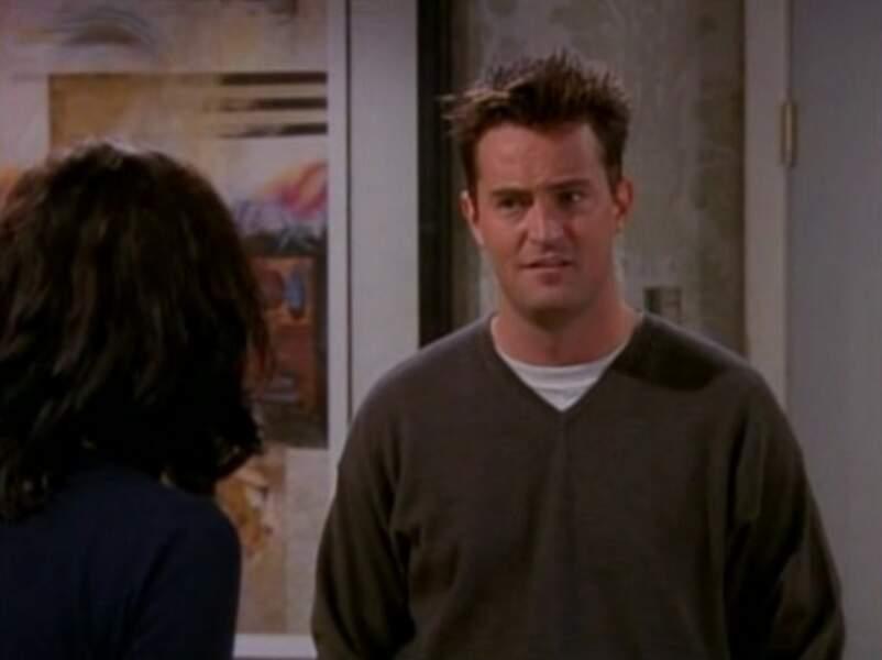 Chandler a un look de jeune trentenaire de l'époque.