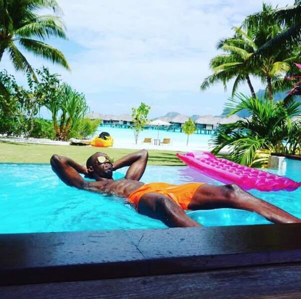 Pour d'autres, la farniente se faisait à la piscine, comme pour Usain Bolt...