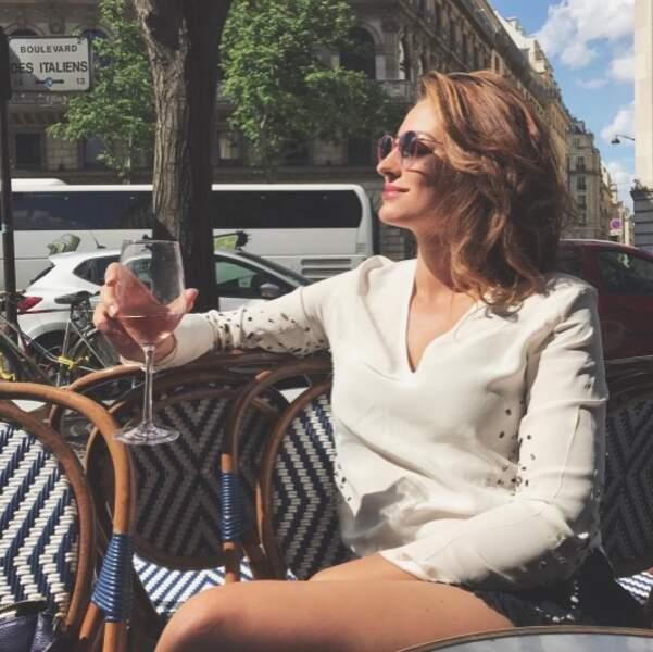 Rachel Legrain-Trapani, elle, a plutôt opté pour l'apéro en terrasse vers Opéra à Paris.
