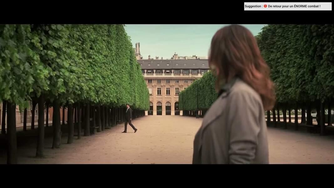 Au Palais-Royal, les alignements de tilleuls créent une perspective cinématographique.
