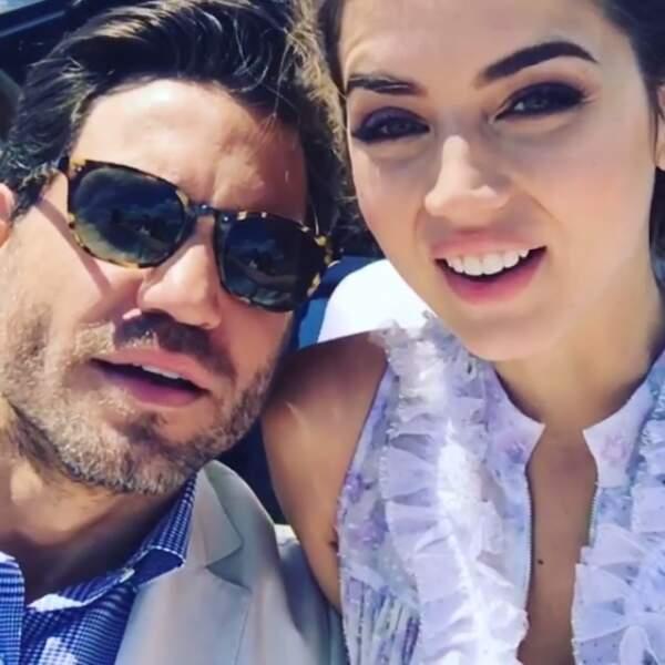 Et hop un selfie avec son partenaire dans le film Hands of Stone, Edgar Ramirez