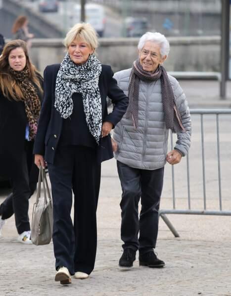 En avril, il se rendait avec sa femme Maryse aux obsèques de Veronique Collucci
