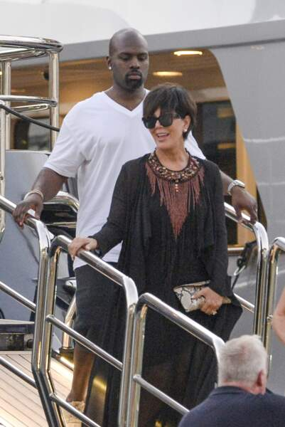 Kris Jenner et sa moitié extra-musclée nommée Corey Gamble.