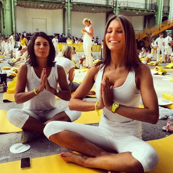 Sinon, Laury Thilleman fait du yoga avec Estelle Denis