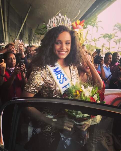 Et Alicia Aylies, Miss France 2017, a été accueillie comme une reine chez elle en Guyane !