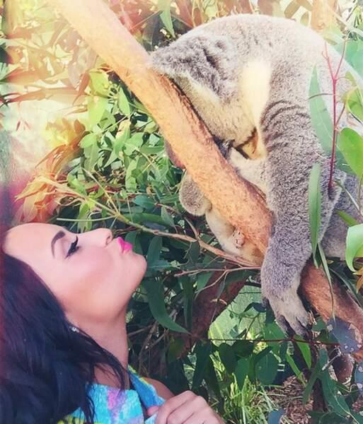 Demi Lovato était en Australie avec les koalas !