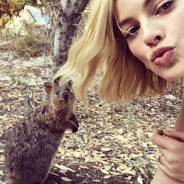 Dans son Australie natale, Margot Robbie a rencontré un quokka et on fond de jalousie.
