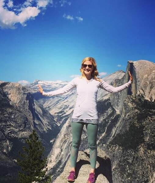 Un peu de nature : Sarah Drew nous a fait croire qu'elle déplaçait les montagnes à Yosemite.