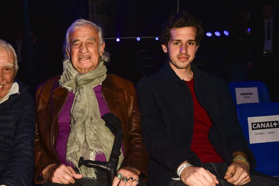 Jean-Paul Belmondo était venu avec son pote Charles Gérard et son petit-fils Victor
