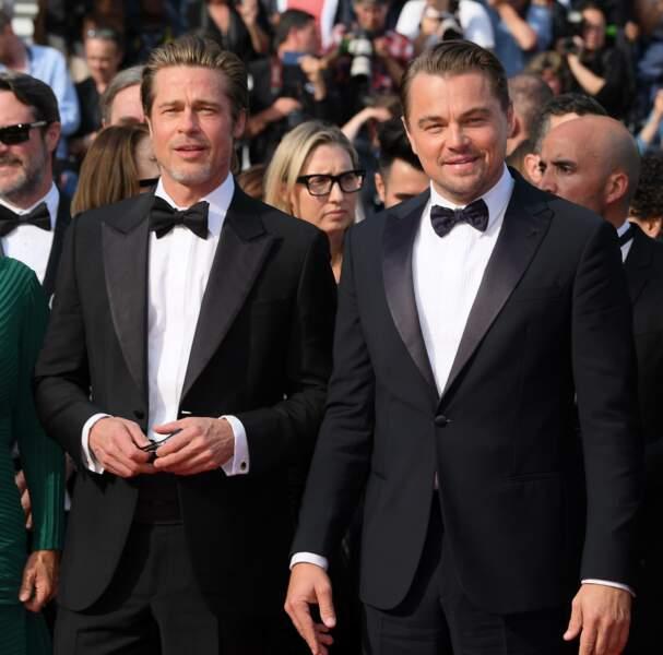 Ah il est là avec son copain Brad Pitt !