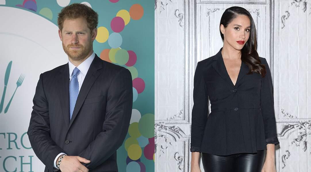 Un couple royal : le Prince Harry et l'actrice Meghan Markle (Suits).