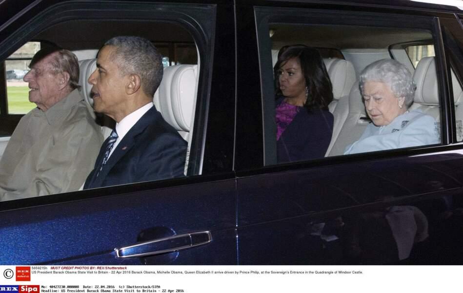 Le prince Philip a lui-même pris le volant