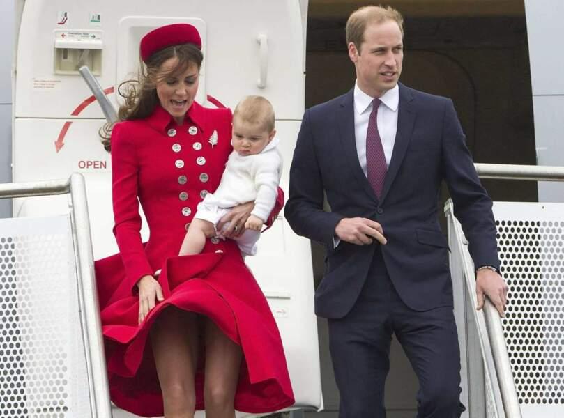 Alerte bébé mignon ! Le prince George, 8 mois, débarque en Nouvelle-Zélande