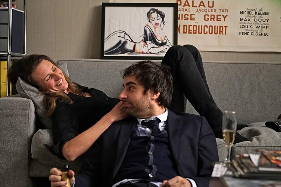 Grégory Montel et Camille Cottin (Dix pour cent)