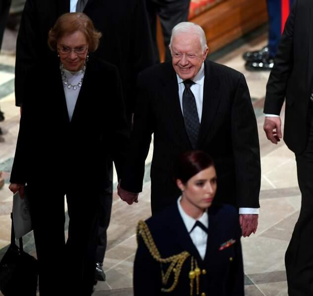 Le 39e président américain Jimmy Carter et son épouse Rosalynn
