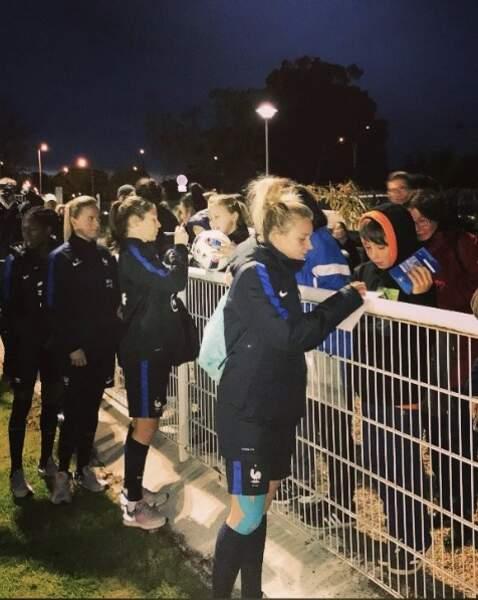 Que ce soit avec Montpellier ou avec l'équipe de France, les fans sont toujours là pour soutenir Marion