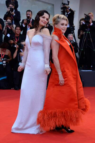 Juliette Binoche et Catherine Deneuve pour le film La vérité
