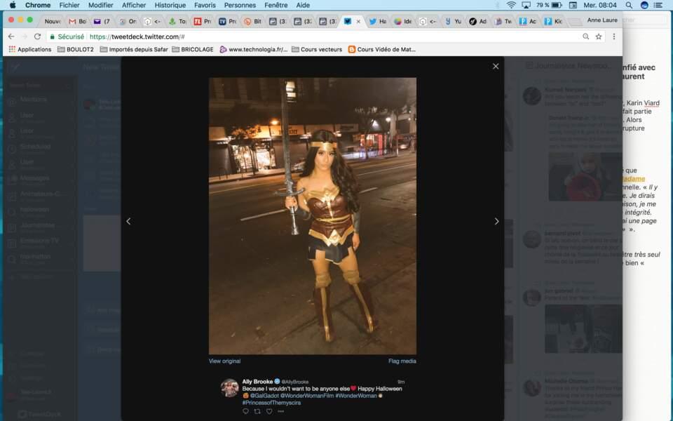 Ally Brooke rend un bel hommage à la Wonder Woman version Gal Gadot