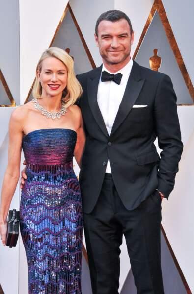 Les acteurs Naomi Watts et Liev Schreiber, en couple depuis 2005.