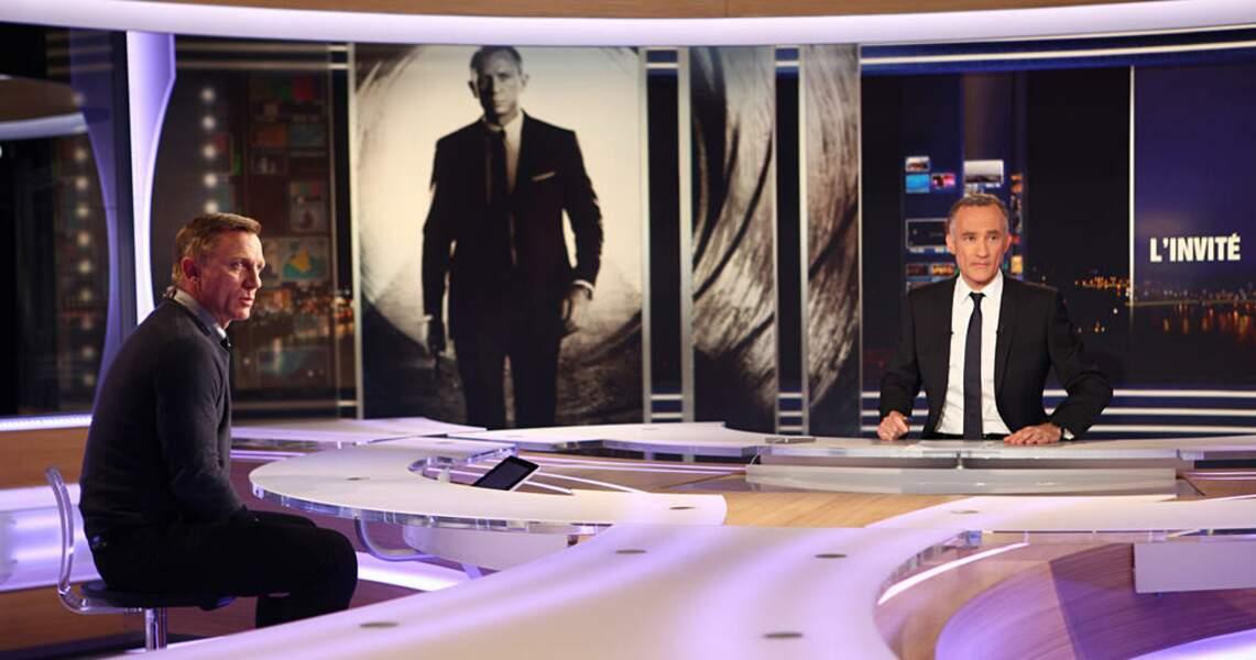 Gilles Bouleau et son invité, Daniel Craig