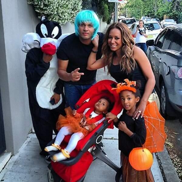 Une autre Spice Girls en la personne de Mélanie Brown fête Halloween en famille