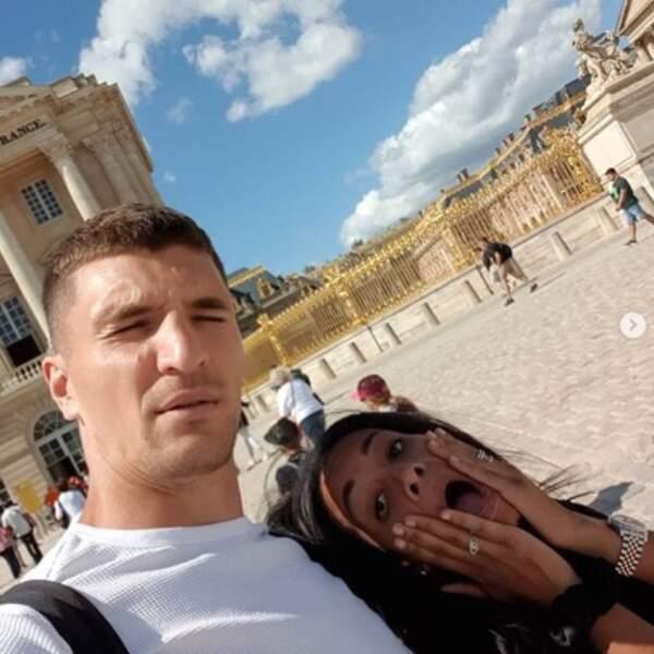 Et le footballeur Thomas Meunier et sa femme Déborah ont visité Versailles.