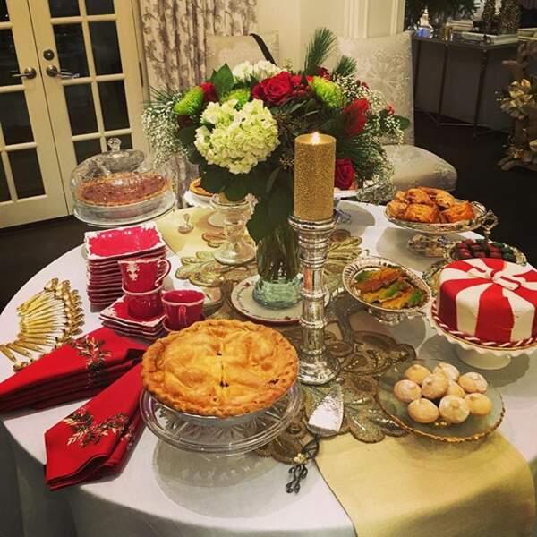Et pour finir, une partie du buffet de chez Sofia Vergara (Modern Family). Ca fait envie ?