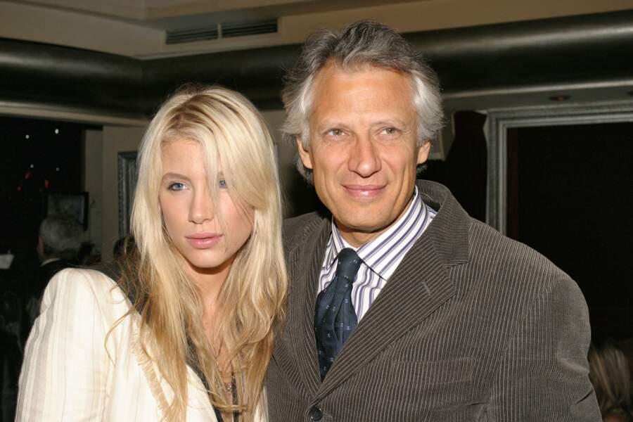 Avec son père Dominique de Villepin en 2007
