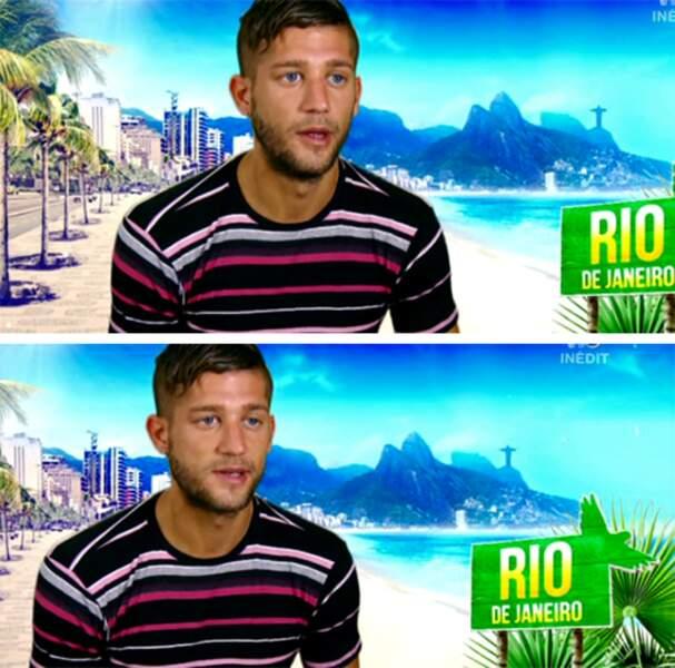 Et oui, il s'agit de Paga. Le seul à porter un t-shirt dans Les Marseillais à Rio. Bravo, les Sherlock en herbe !