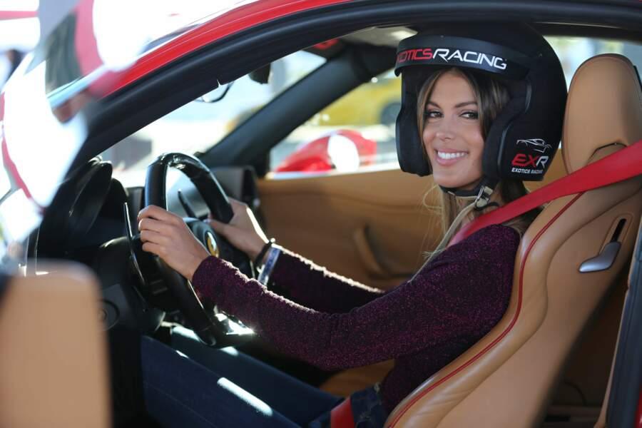 Iris Mittenaere est invitée à la course de voitures Exotics Racing à Las Vegas en novembre 2017