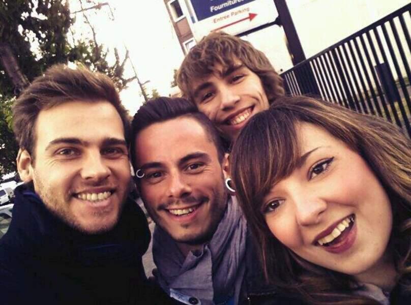 Charlie, Maximilien Philippe, Flo et Natacha Andreani en vadrouille