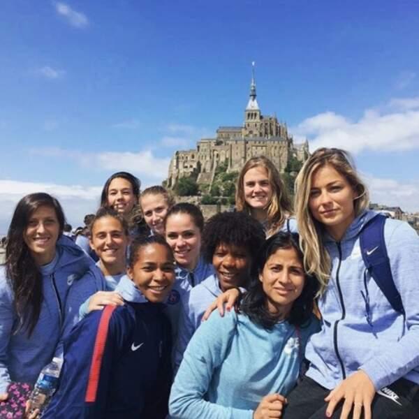 Les filles du PSG ont vu le Mont Saint-Michel.