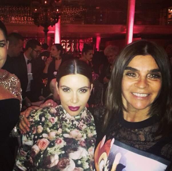 Avec Carine Roitfeld, ancienne rédactrice en chef du magazine Vogue Paris.
