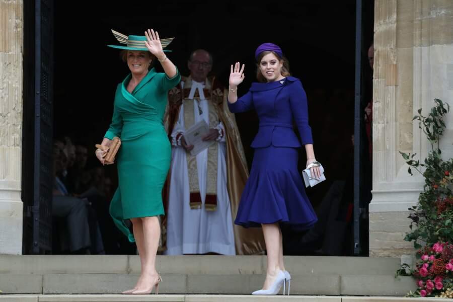 La princesse Beatrice, soeur d'Eugenie, et sa mère Sarah Ferguson