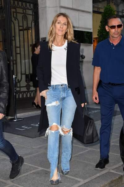 Après un voyage à Copenhague pour sa tournée, Céline Dion est de passage à Paris !