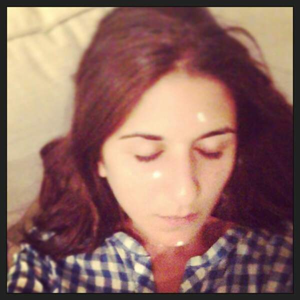 Géraldine, quelle est donc cette substance sur votre visage ?