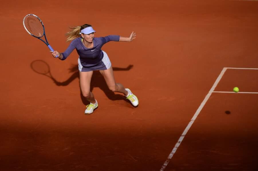 Ce qui ne l'a pas empêchée de subir la loi de Maria Sharapova...