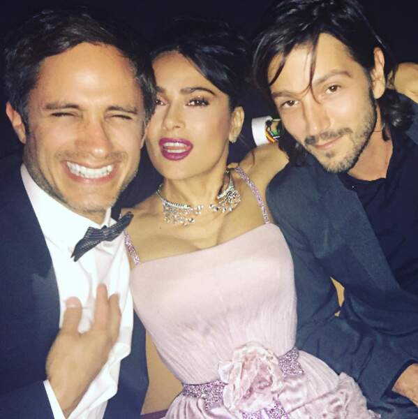 La team mexicaine à Cannes : Gael Garcia Bernal, Salma Hayek et Diego Luna.